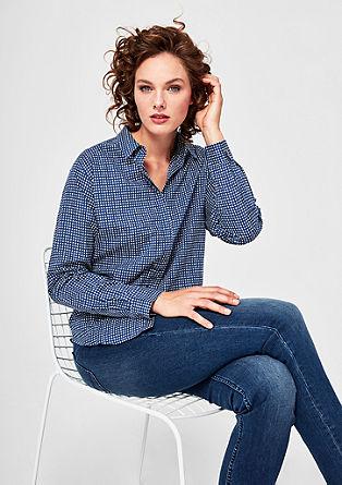 Vzorčasta bluza iz batista