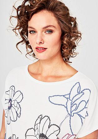 Jerseyshirt mit gummiertem Print