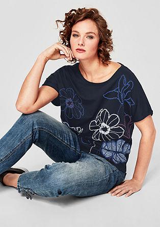 Jersey shirt met rubberen print