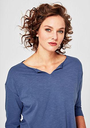 Tunikové tričko se strukturou žíhané příze