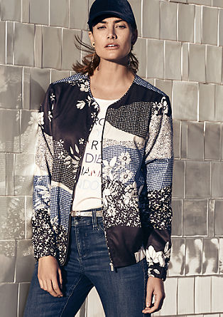 Bomber jacket with a printed pattern from s.Oliver