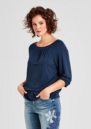 Vrouwelijk shirt van elastische viscose