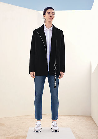 Doubleface-Jacke mit Zipper