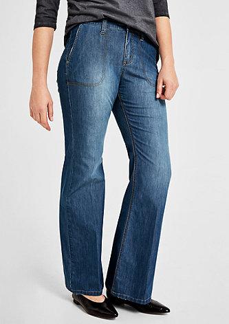 Curvy Fit: Wide Leg-Jeans