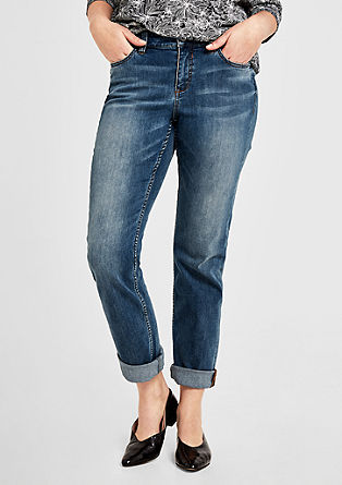 Curvy Slim: Used-Jeans