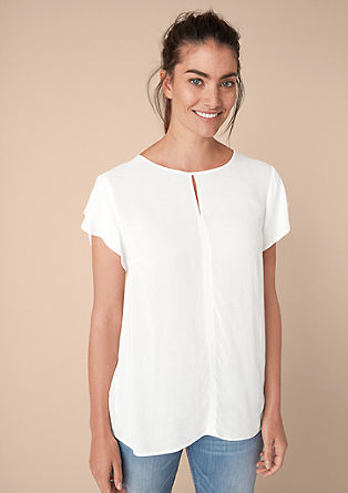 Airy blouse with flounce sleeves from s.Oliver