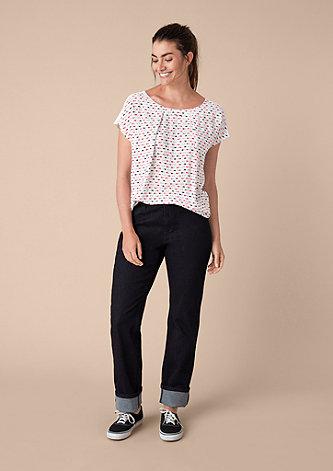 Jerseyshirt mit Muster