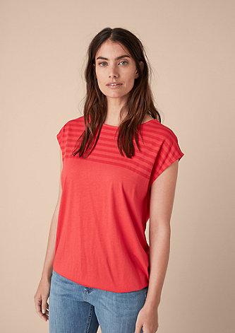 Lässiges Shirt mit Streifen-Detail
