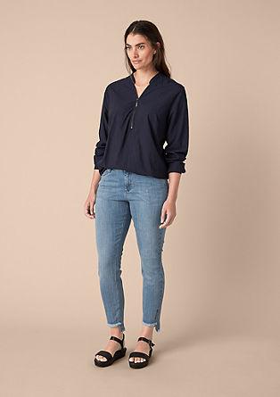 Curvy extra slim: jeans met franjes