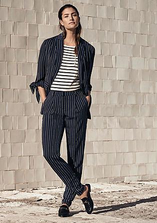 Elegante broek met krijtstrepen