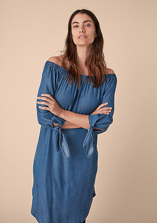 Luftiges Kleid im Denim-Look