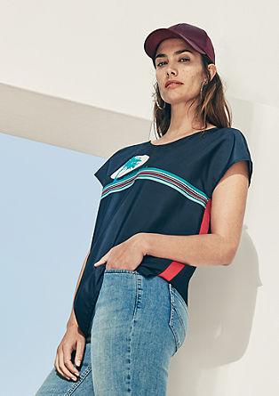 Blusenshirt mit Frontprint