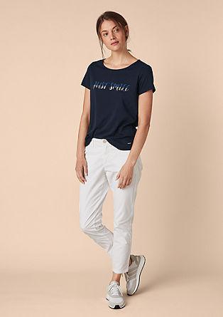 Basic shirt met print op de voorkant