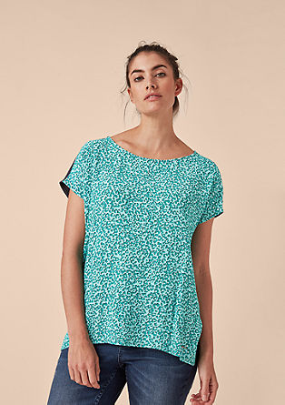 T-shirt with a patterned front from s.Oliver