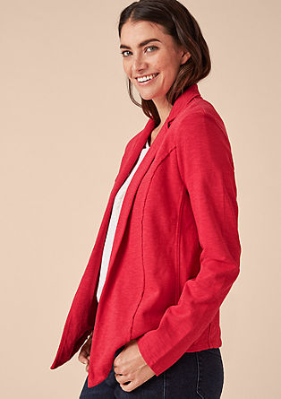 Casual slub yarn blazer from s.Oliver