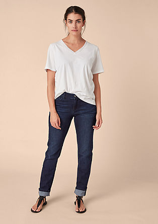 Curvy Slim: Stretchige Dark Denim