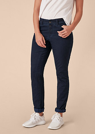 Curvy Extra Slim: Used-Stretchjeans