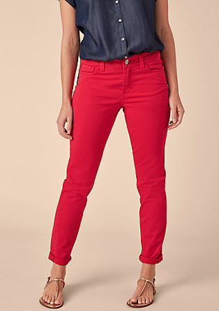 Regular slim: coloured jeans