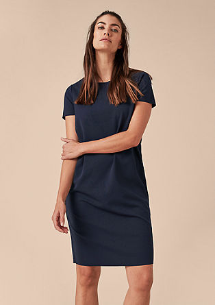 Casual dress with unfinished edges from s.Oliver