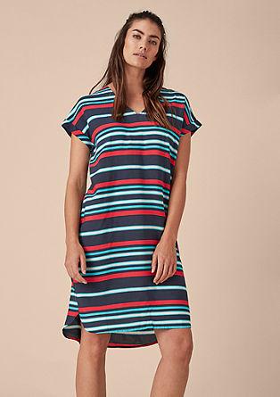 Lockeres Kleid mit Streifenprint