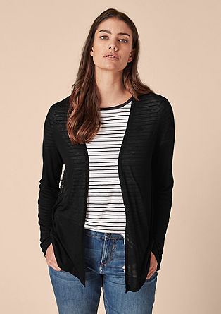 Delicate shirt jacket with lace from s.Oliver