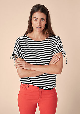 Striped top with lurex from s.Oliver