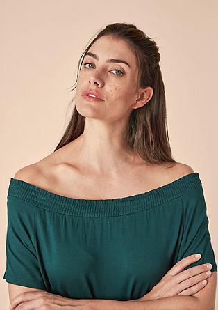 Off Shoulder-Shirt aus Viskose