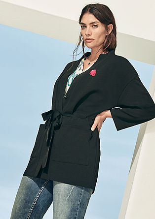 Long blazer in double-faced jersey from s.Oliver
