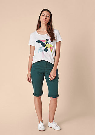 Curvy fit: smalle capri-jeans