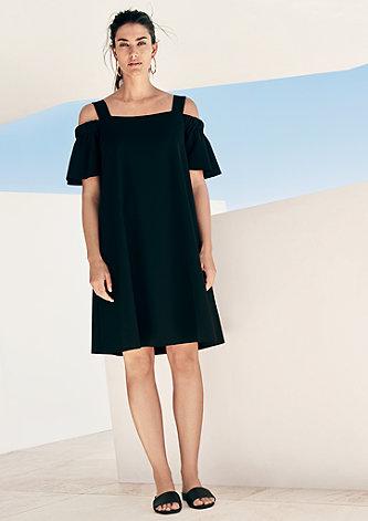 Off Shoulder-Kleid mit Volant