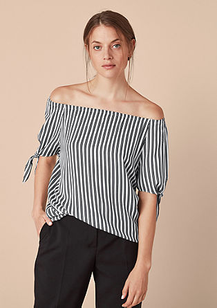 Off Shoulder-Bluse mit Bow-Details