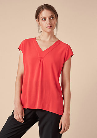 V-neck blouse in crêpe from s.Oliver