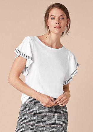 Jersey-Shirt mit Flügelärmeln