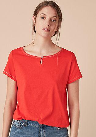 T-Shirt mit Glitzer-Akzenten