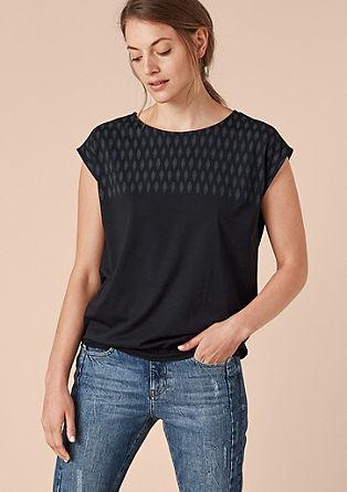 Modal-Shirt mit Print-Passe