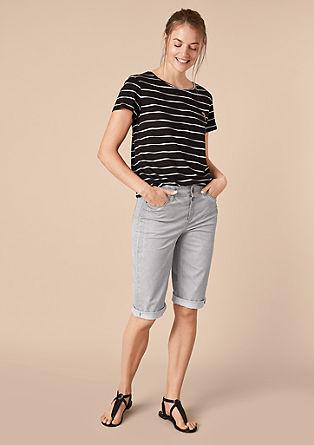 Curvy Slim: bermuda hlače, barvane s hladnim postopkom pigmentiranja