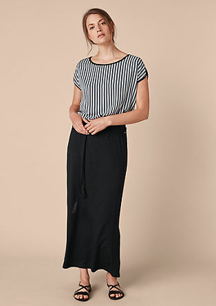 Jersey skirt in a midi length from s.Oliver