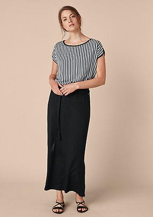 Jersey rok in midi-lengte
