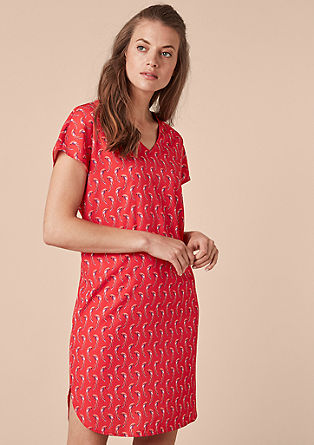 Blouse dress with parrot pattern from s.Oliver