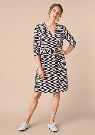 V-neck dress with geometric pattern from s.Oliver