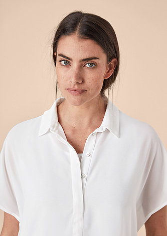 2-in-1-Bluse aus Chiffon
