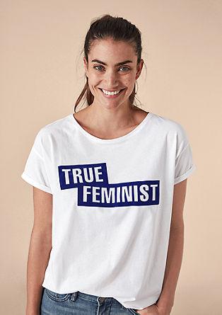 Bavlněné tričko snatištěnými motivy