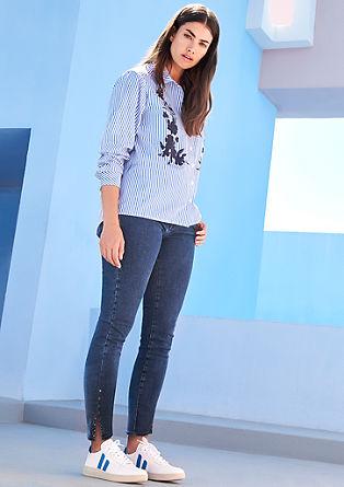 Curvy extra slim: jeans met studs