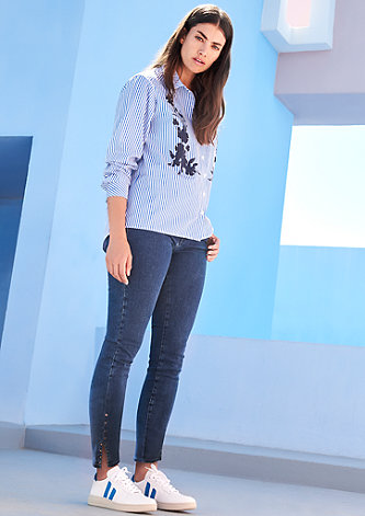 Curvy Extra Slim: Jeans mit Nieten
