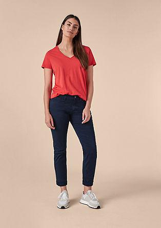 Regular slim: donkere jeans