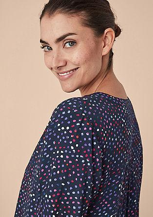 Gestippelde blouse in tuniekstijl