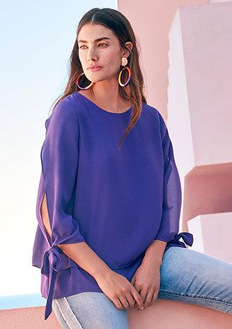 Layer-Bluse aus Chiffon