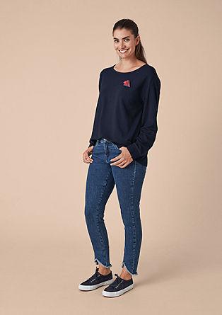Sweatshirt met broche
