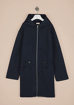 Coat in a scuba finish with a hood from s.Oliver