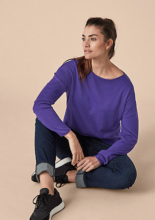 Lightweight jumper with curled edges from s.Oliver